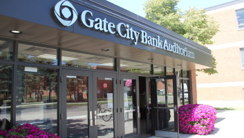 View Slide :: Gate City Bank Auditorium - Exterior