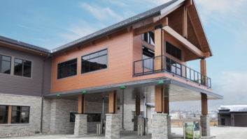 View Slide :: Cornerstone Bank Exterior Drive Up