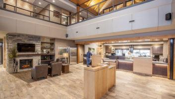 View Slide :: Cornerstone Bank Interior Lobby Area