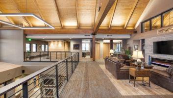 View Slide :: Cornerstone Bank Interior Upstairs Sitting Area